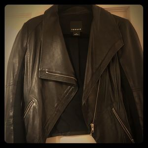 Trouve Black Leather Jacket - (From Nordstrom)